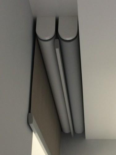 автоматические рулонные шторы с электроприводом жалюзи для